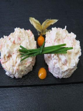 Salade crabe et surimi