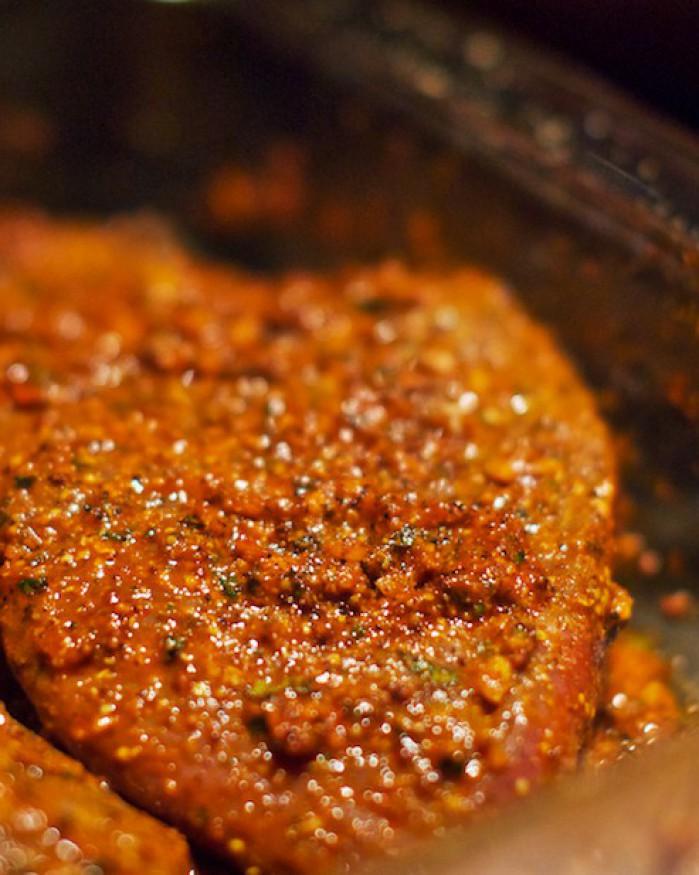Steak  au Paprika