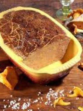 Terrine au foie gras et giroles