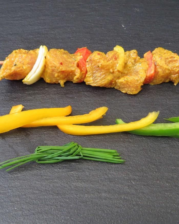Brochette de Volaille au Curry